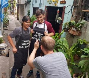 BBC Travel show filming Cooking with Poo the day we left